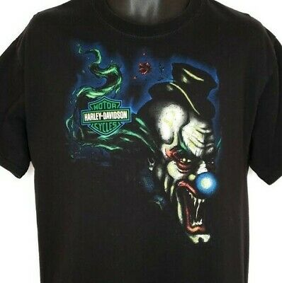 d4f98f3a Harley Davidson T Shirt Evil Clown New York City NYC Biker Motorcycle Size  Large