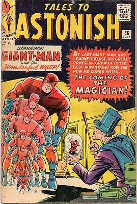 TALES TO ASTONISH #56 Giant Man Silver Age Marvel Comics 1964 VG/VG-
