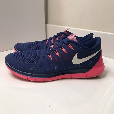more photos 872e6 ac20d NIKE FREE RUN 5.5 Women's Shoes Navy Purple Pink Running 642199-401 SIZ 11