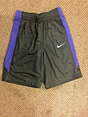 25a9a70939cd BOY S NIKE ATHLETIC Basketball Shorts - Shiny Silver w Black   White ...
