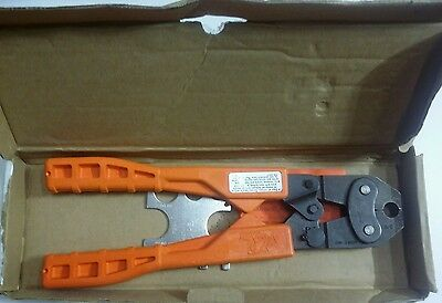"3/8"" Crimper Large L Pex Crimp Tool Sharkbite Shark Bite 23077 (R4) Astm F-1807"