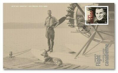 New Issue! C.H. 'PUNCH' DICKINS = Bush Pilot = OFDC, FDC Canada 2019