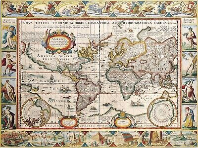 A4 Reprint of Old Maps Old Map Of Various Parts Of The World Reprint 12