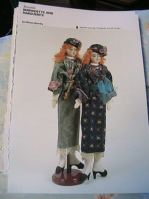 OLD FASHIONED RUTH~Roxanne Becker WHIMSICAL cloth art doll pattern *RARE /& OOP