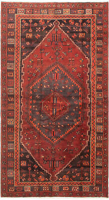 """Hand-knotted Persian Carpet 4'8"""" x 8'6"""" Persian Traditional Wool Rug"""