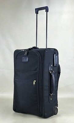 "Andiamo USA Classic Black Cordura 22"" Upright Wheeled Carry On Rolling Suitcase"