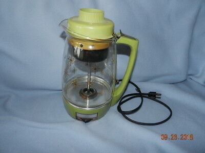Vintage Proctor Silex Electric Percolator 70702 Glass Pot Coffee Maker atomic