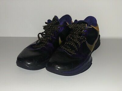 bca04571db3e NIKE 2009 ZOOM KOBE V 5 LA LAKERS AWAY BLACK DEL SOL PURPLE men s size 9.5