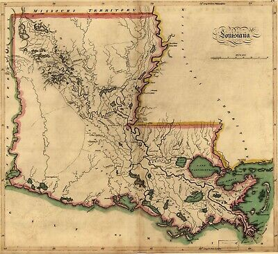 A4 Reprint of Map 1700s Louisiana Mississippi Missouri Boundaries