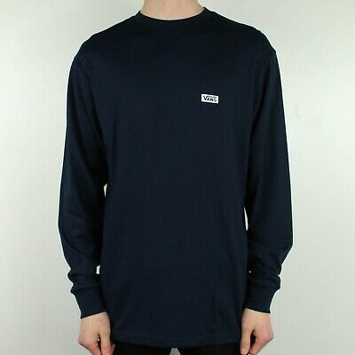 Vans Retro Tall Long Sleeve T-Shirt Brand New in Navy Blue in Size M,L