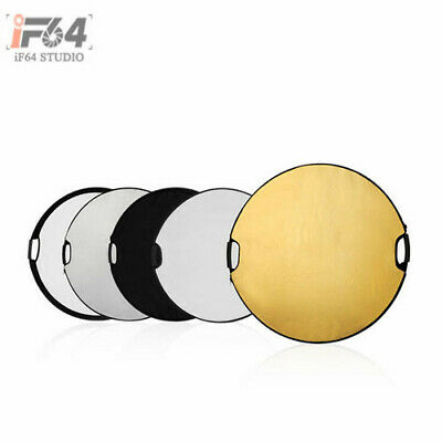 """Photography Photo Reflector 80cm(32"""") 5in1 Light Collapsible Portable Reflector"""