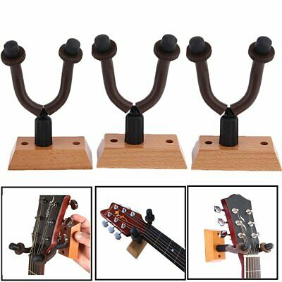 3 X Guitar Hanger Holder Hook Rack Stand Wall Mount Display Instrument BEST