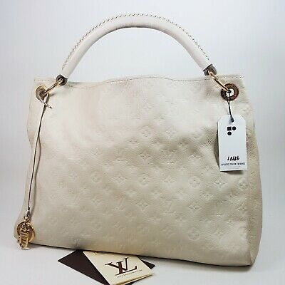 d9e2efc9413a2 Auth Louis Vuitton Artsy MM Monogram Empreinte Neige M93449 Hand Genuine  LB686