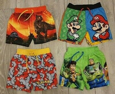 2a914b313d080 Primark Boys Super Mario Bros/ Toy Story Swimming Swim Shorts Trunks Age 2  - 10