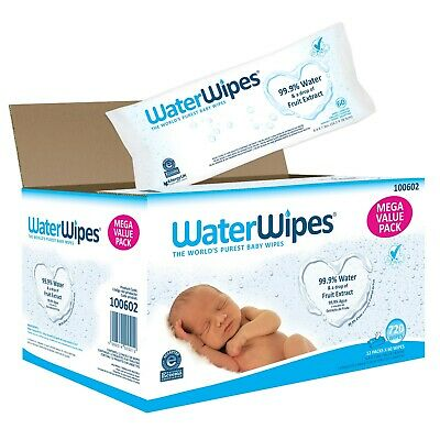 WaterWipes Sensitive Baby Wipes 12 Packs of 60 Count 720 Diapering