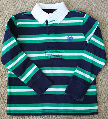 Chaps Ralph Lauren 3 3T Top Tee Rugby Shirt L/S Blue Green NWT Boy's
