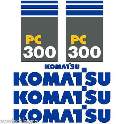 PC300-7 Decals PC300-7 Stickers Komatsu Decals Komatsu Stickers- New Decal Kit