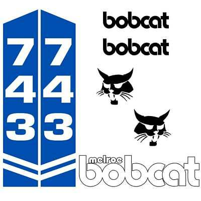 Bobcat 743 Decals Repro Aftermarket Decal Sticker kit
