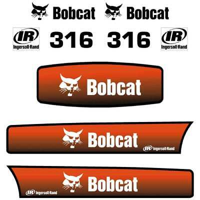 Bobcat 316 Decals Stickers, repro aftermarket kit