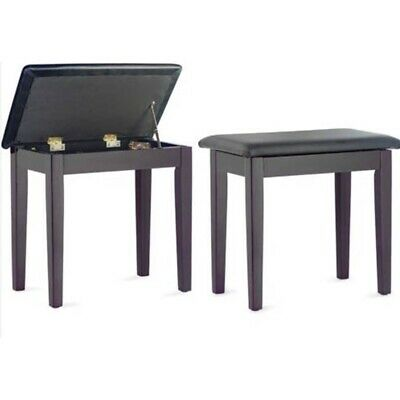 Stagg Piano Keyboard Stool Bench with Storage Compartment - Rosewood