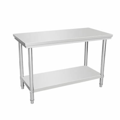 1200x600x800mmH 304 Stainless Steel Bench Kitchen Workbench Commercial Grade