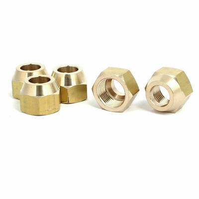 """10pcs Brass Flare Nut - Forged, 1/2"""" 1/4"""" 3/4"""" 3/8"""" Choices, A/C, Pipe Fittings"""