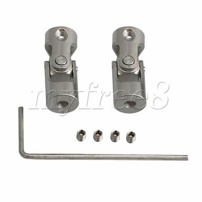 2xLength 23mm ID 3-3mm Rotatable Motor Shaft Universal Joint Connector Coupler