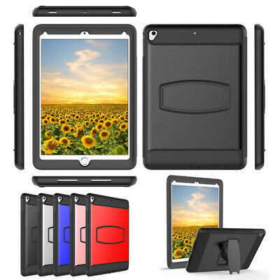 """For iPad Mini 1234 Air Pro 9.7""""5/6th Case with Screen  Protector Silicone Cover"""