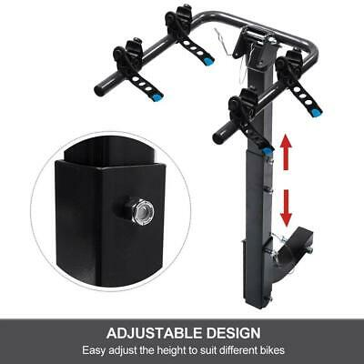 """Bicycle Carrier Bike Car Rear Rack 2"""" TowBar Steel Foldable Hitch Mount Receiver"""