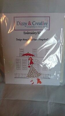 Dizzy & Creative Creative Crewel Embroidery What Have I Forgotten? RRP £38