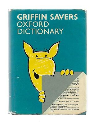 GRIFFIN SAVERS OXFORD English Dictionary Book 1984 Midland