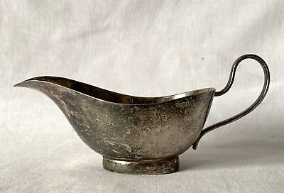 Antique Small Silver Plated EPNS Gravy / Sauce Boat or Jug 14cm Long 5.5cm Wide