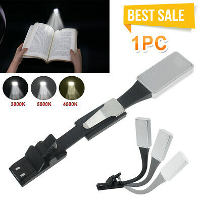 Flexible USB Clip-On LED Light Reading Study Table Book Lamp Rechargeable Lights