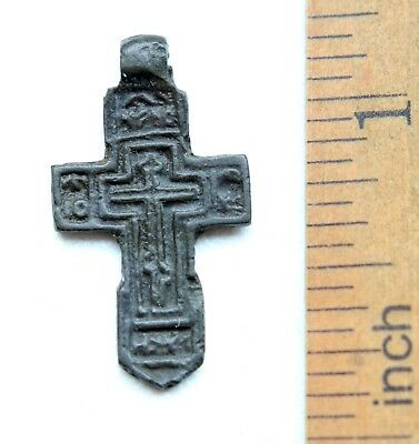 Ancient Russian Orthodox Bronze Cross (NRL07)