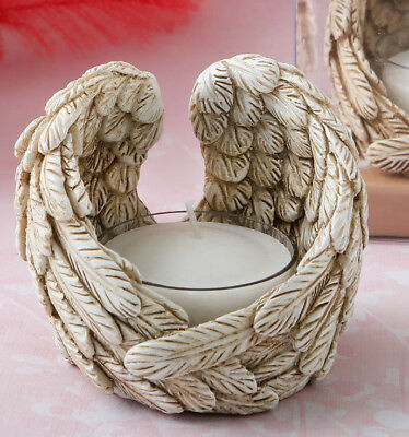 2 x Guardian Angel wings tealight candle holders - Memorial Shrine Comfort Gift