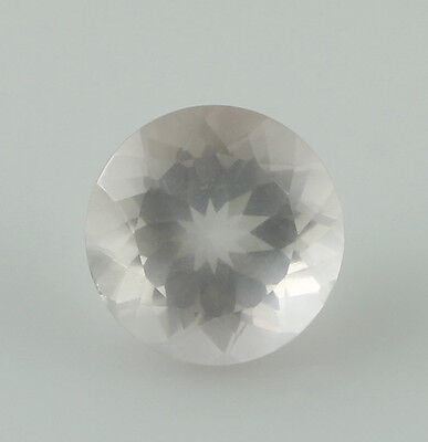 Rose Quartz 9 Mm Round Shape Faceted Cut 2.74 Ct Natural Mined Look Gemstone