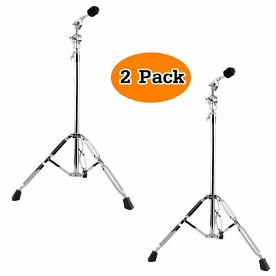 2Pack Cymbal Boom Stands Drum Hardware Percussion Double Braced Tripod Holder US