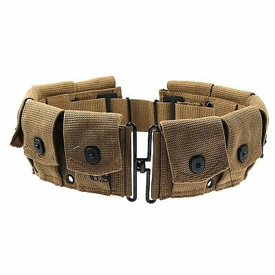 Wwii Ww2 Us Army Soldier M-1923 Cartridge Belt Military Ammo Pouch