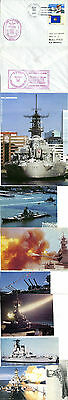 Uss Wisconsin Battleship Bb64 1 Cached Cover & 8 Magazine Pictures