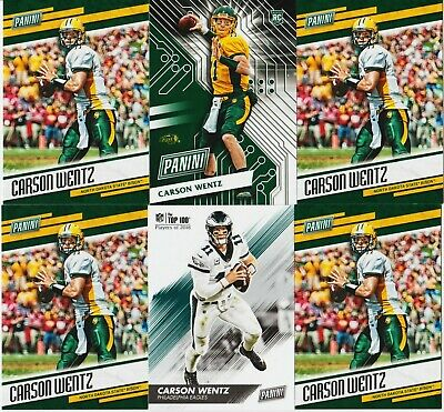 Carson Wentz Cyber Monday Rc Rookie 6 Card Lot 2016 Panini Father's Day Top 100