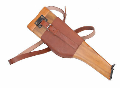 Ww2 German Army C96 Mauser Broomhandle Wood Leather Holster Military