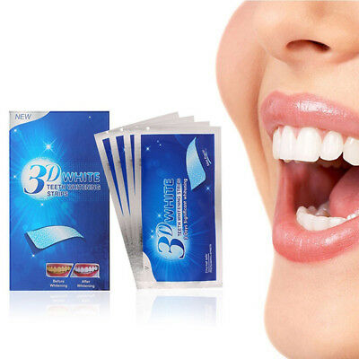 28Pcs Teeth Whitening Strips Advanced 3D Whitening Strips Dental Bleaching CPUK