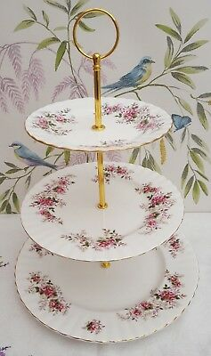 "Royal Albert ""Lavender Rose"" Ex. Large 3-tier cake stand ***PRICE REDUCED*** #2"
