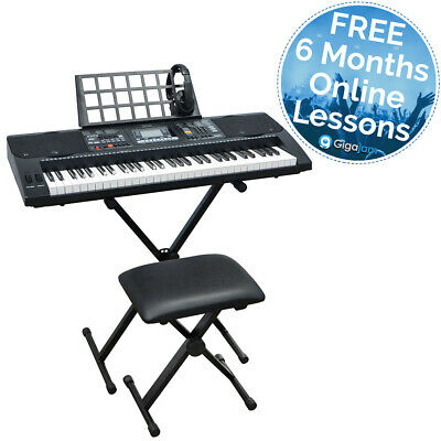 Axus AXP2PK Touch Sensitive Electronic Keyboard with Stand, Stool and Headphones
