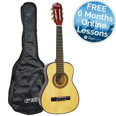 3rd Avenue 1/4 Size Children's Classical Guitar with Bag - Free Online Lessons