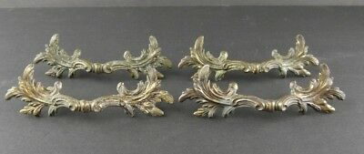 Lot of 4 Vintage French Provincial Brass Drawer Pulls