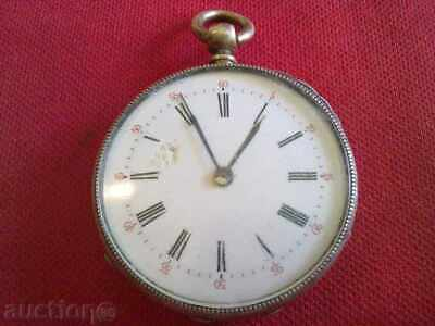 Rare Vintage Antique WWI military trench SILVER POCKET watch Swiss Check it !