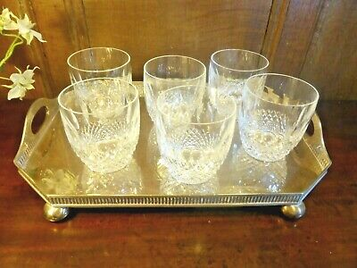 "WATERFORD crystal COLLEEN SET 6 large WHISKY/JUICE GLASSES/TUMBLERS 3 3/8"" 8 oz"