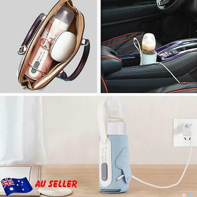AU USB Baby Bottle Warmer Portable Milk Travel Storage Insulation Thermostat