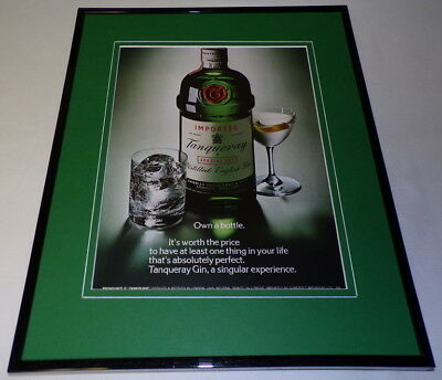 1982 Tanqueray Gin Framed 11x14 ORIGINAL Advertisement